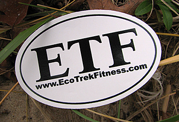 EcoTrek Fitness sticker
